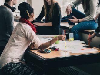 Foto einer Studentengruppe